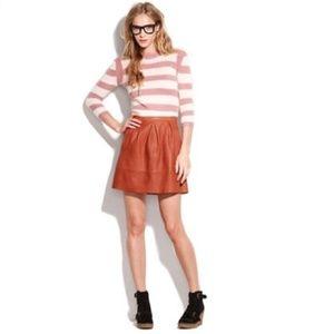 Broadway & Broome   Belltoll Leather Mini Skirt